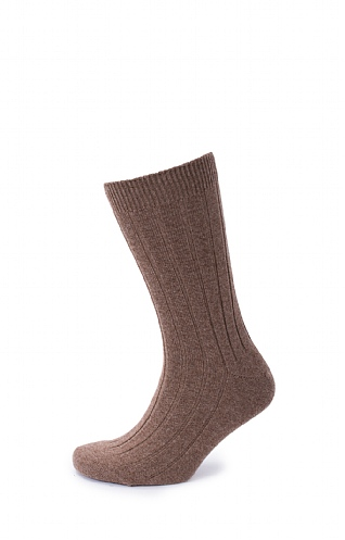 Mens Cash Socks Driftwood 10-12