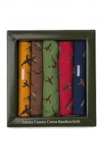 5 Pack Pheasant Cotton Hankies