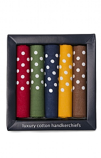 5 Pack Polka Dot Cotton Hankies