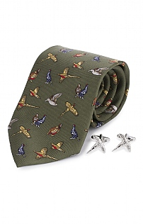Country Cufflink and Tie Set