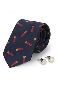 Cartridge Cufflink and Tie Set