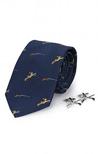 Hare Cufflink and Tie Set