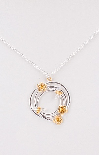 Bees Knees Swirl Necklace