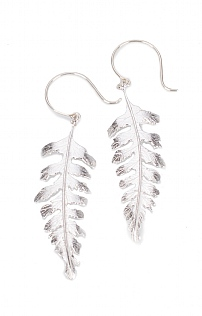 Large Fern Drop Earrings