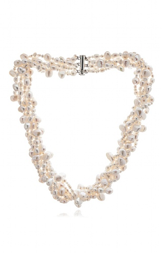Pearls of the Orient Six Strand Rice Pearl Necklace