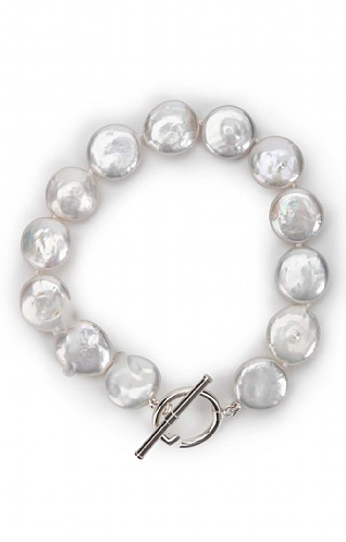 Pearls of the Orient Pearl Coin Bangle