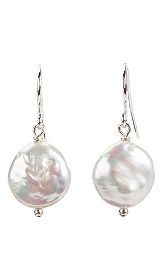 Pearls of the Orient Pearl Coin Drop Earrings