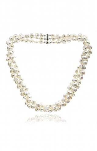 Pearls of the Orient Triple Strand Pearl Necklace