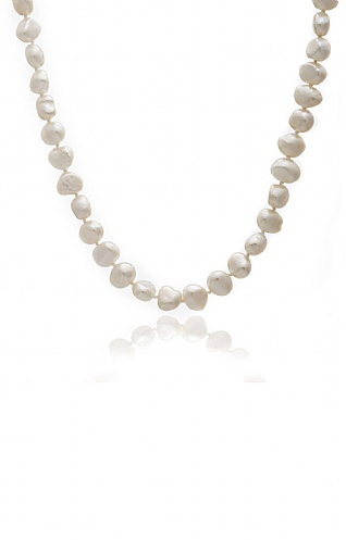 Pearls of the Orient 16 Inch Single Strand Irregular Pearl Necklace