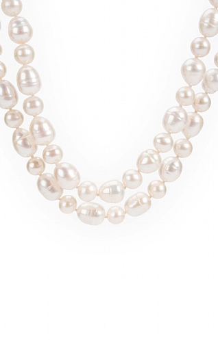 Pearls of the Orient Two Strand Pearl Necklace
