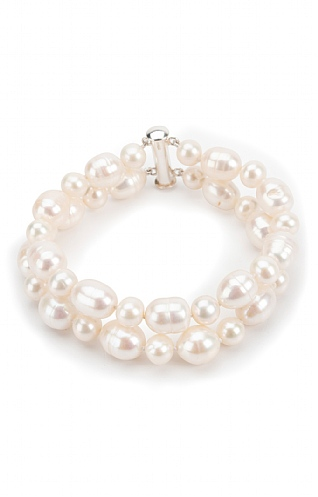 Pearls of the Orient Two Strand Pearl Bracelet