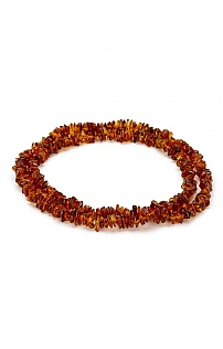 Amber Chip Bead Necklace