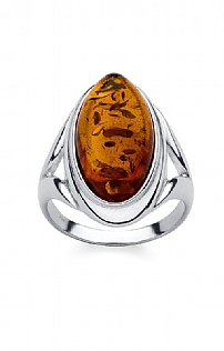 Amber Hall Large Oval Stone Ring