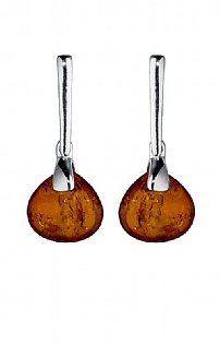 Amber Hall Oval Stone Earrings