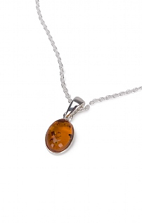 Amber Oval Necklace