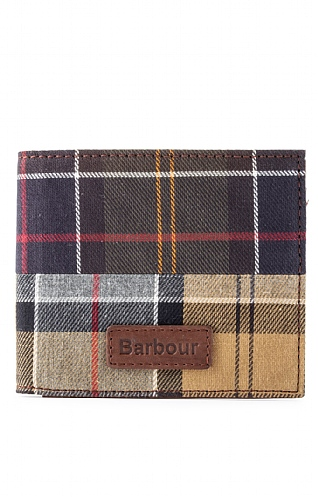 Barbour Tartan Billfold Wallet