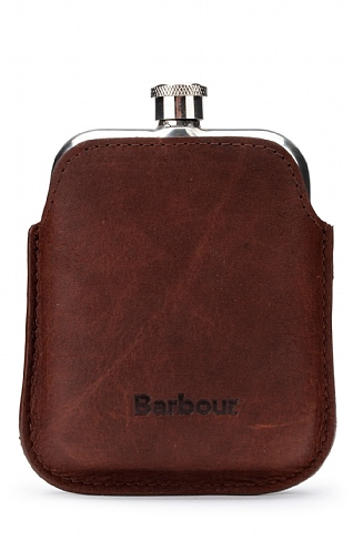 Barbour Leather Hip Flask