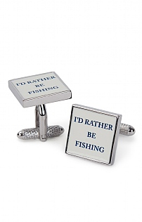 Rather Be Fishing Cufflinks