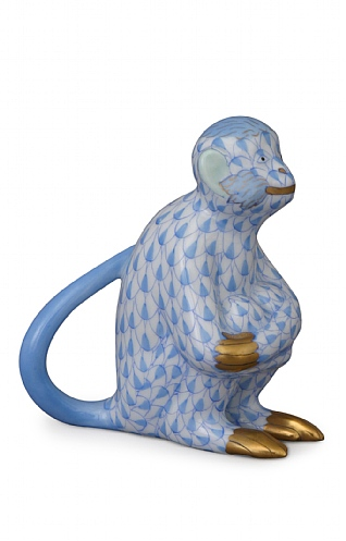 Herend Blue Monkey