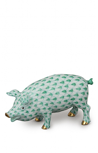 Herend Green Pig