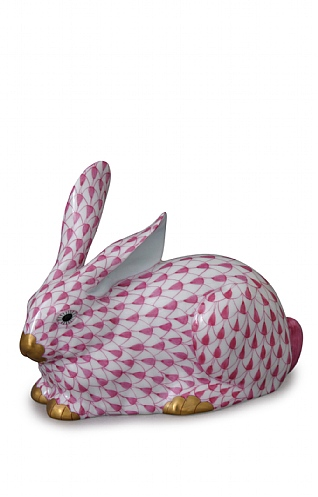 Herend Red Lying Rabbit