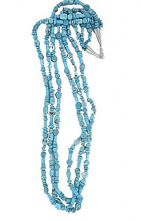 Brave Designs 3 Strand Multi Bead Necklace