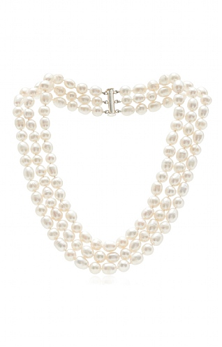 Pearls Of The Orient  3 Strand Necklace