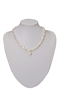 18 Inch White Pearl Neacklace/Pendant