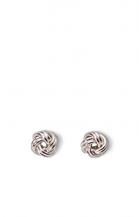 Small Silver Rope Stud Earrings