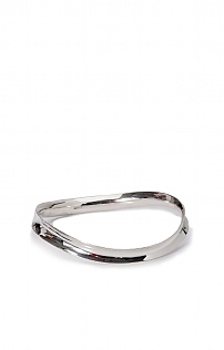 Shaped Silver Bangle