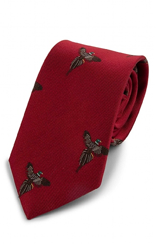 Woven Flying Pheasant Tie