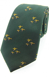 Flying Duck Woven Silk Tie