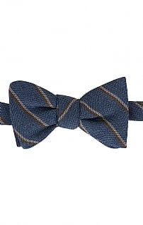 Pellens & Loick Silk/Wool Stripe Bow Tie
