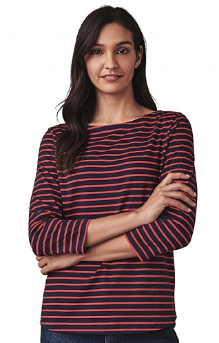 Ladies Crew Clothing Essential Breton T-Shirt