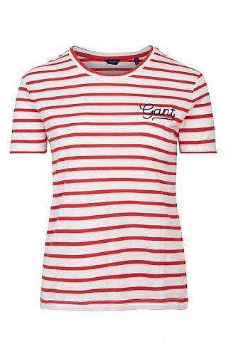 Ladies Gant Breton Stripe T-Shirt