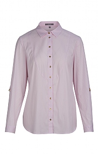 Erfo Turn-Up Sleeve Pinstripe Shirt