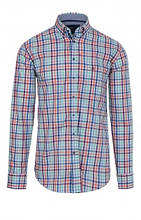 Baileys Cotton Check Contrast Cuff Shirt