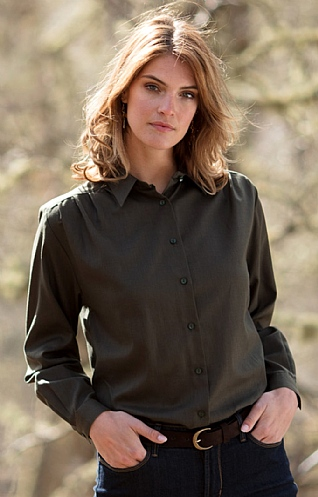Ladies Classic Brushed Blouse