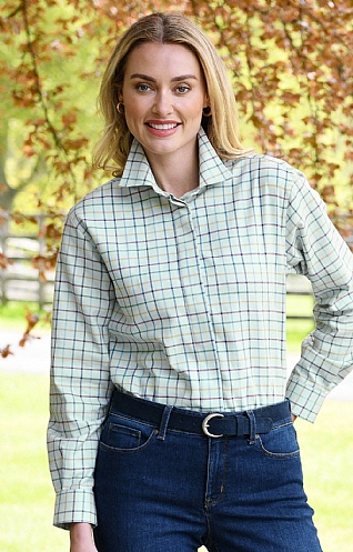 Brushed Cotton Ladies Tattersall Shirt