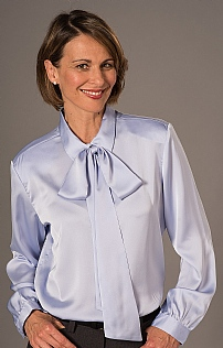 Ladies Bow Tie Neck Blouse