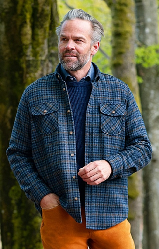 Tweed Overshirt Jacket