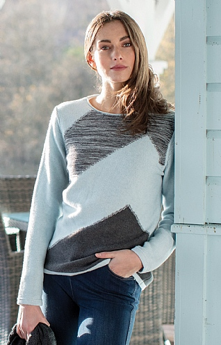 Marble Diagonal Patch Sweater