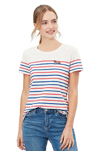 Joules Carley Embroidered Classic Crew T-Shirt
