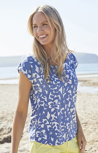 Lily & Me Surf Side Printed Tee