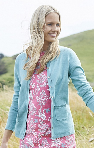 Lily & Me Pointelle Knit Cardigan
