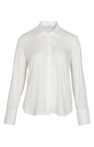 Just White Sleeve Detail Blouse