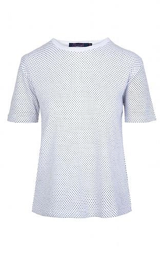 House Of Bruar Ladies Spot T-Shirt - White