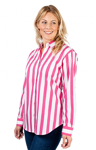 Ladies Seidensticker Wide Stripe Shirt