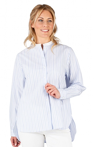 Ladies Seidensticker Grandad Stripe Shirt