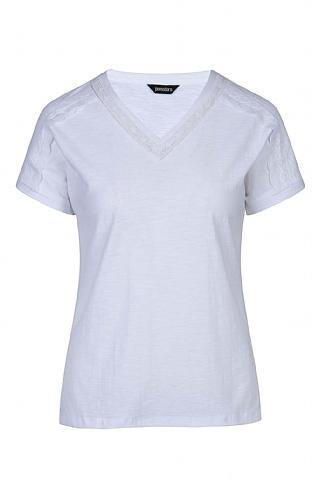 Ladies Pomodoro V Neck T-Shirt - White